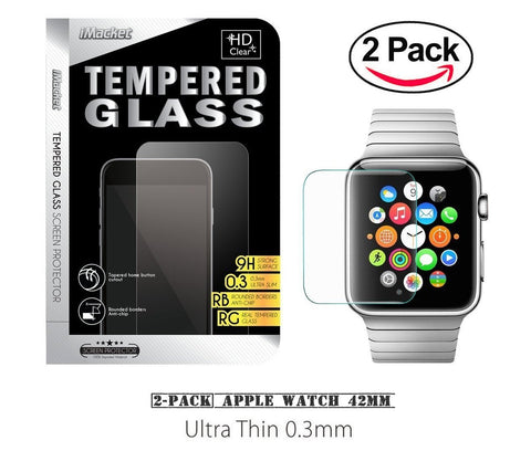 Ultra Clear Tempered Glass Screen Protector for iWatch Apple Watch [38/42 mm]