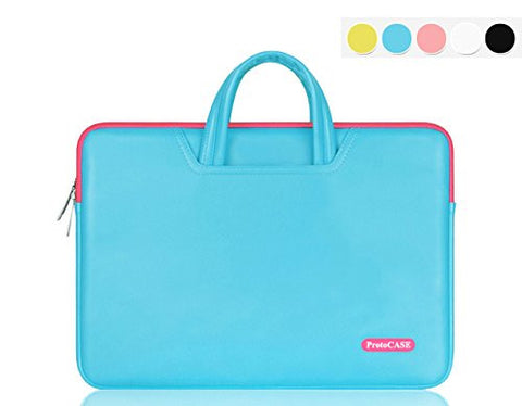 ProtoCASE - PU Leather Laptop / MacBook / Tablet Carrying Bag and Sleeve with Side Pockets