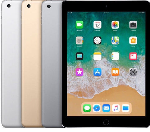 "Apple iPad 5 5th Gen 2017 9.7"" - WIFI / LTE Cellular Tablet Space Gray Silver Gold (32GB 128GB)"