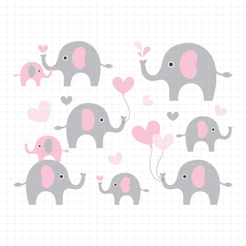 animals, elephant, little peanut, kids, baby, digital clipart, vector, graphic, illustrations