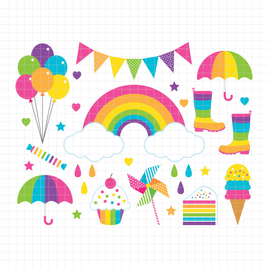 Rainbow Digital Clipart