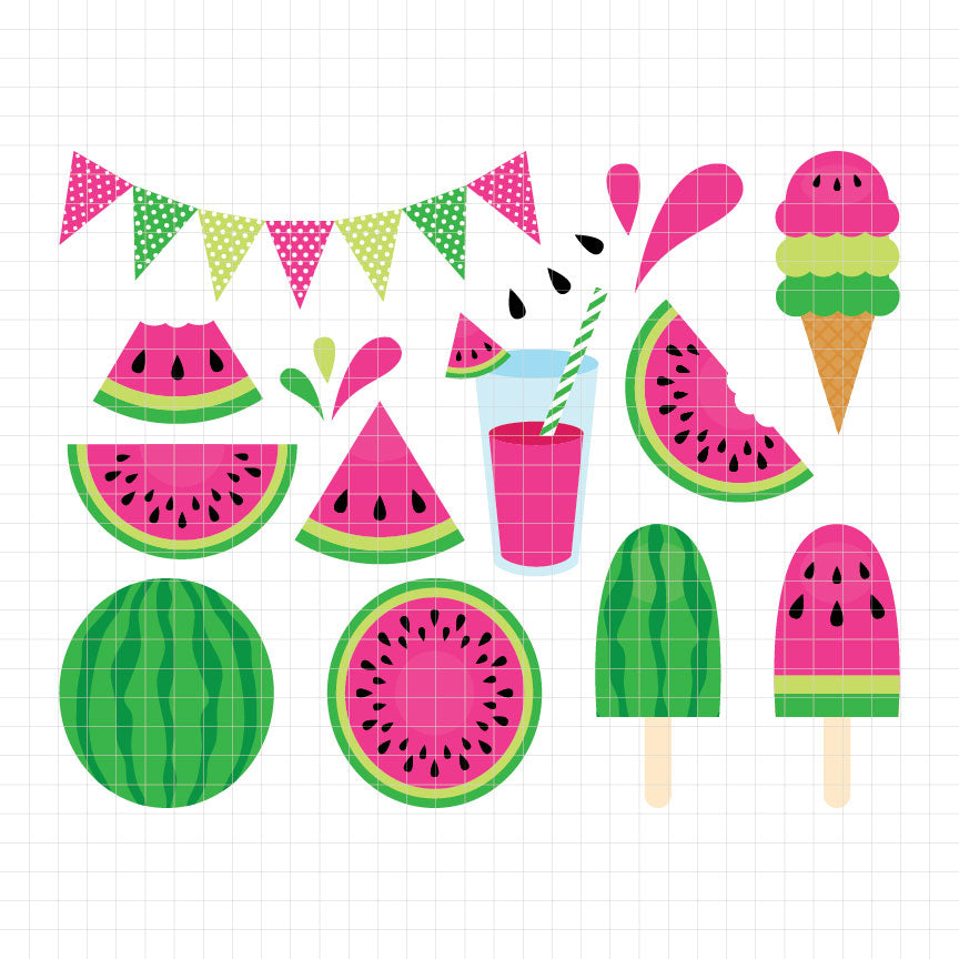Fresh Watermelon Digital Clipart