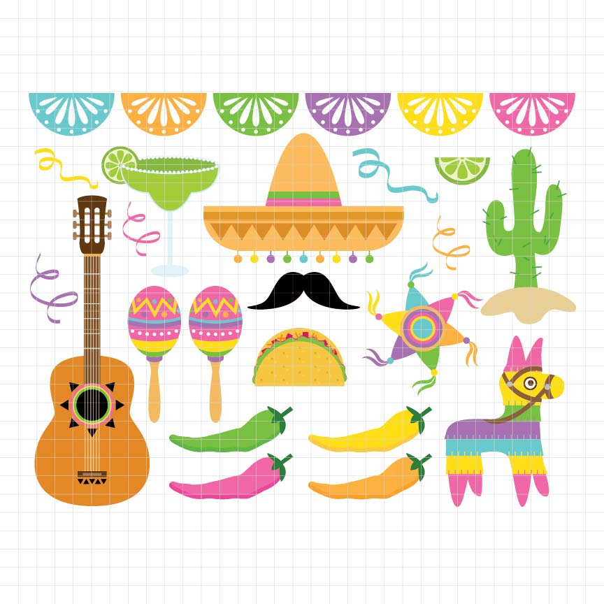 Fiesta Fun Digital Clipart
