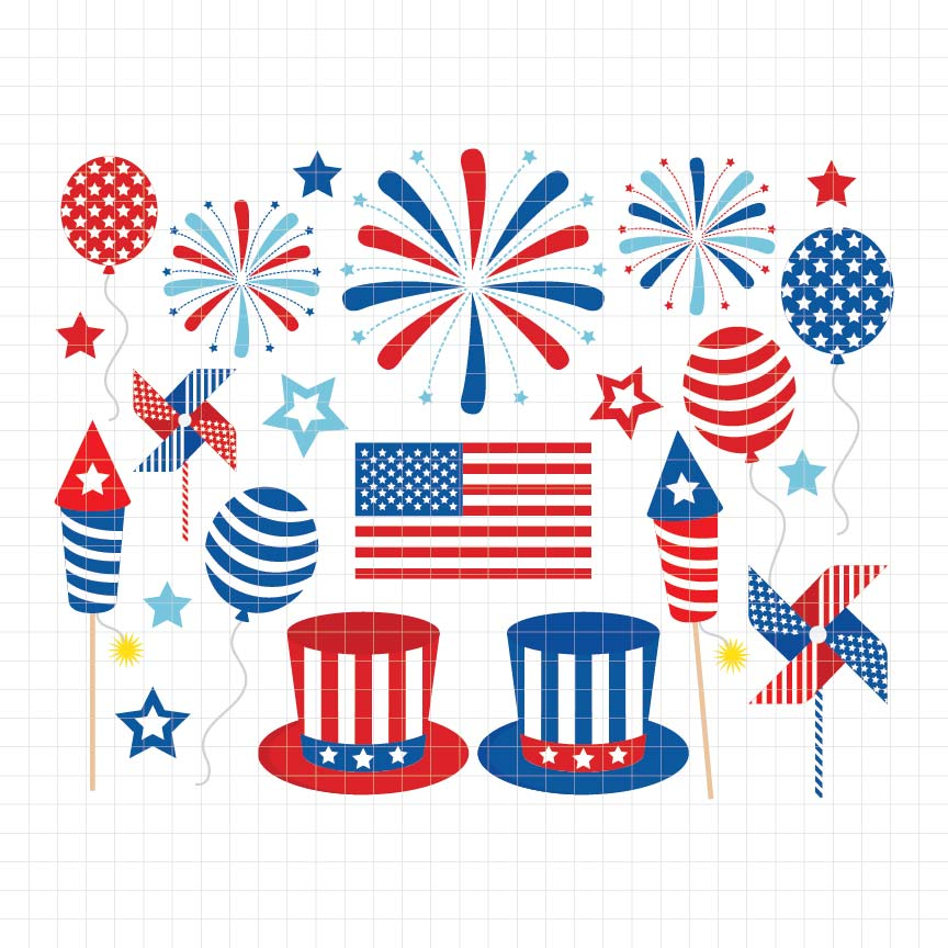 4th of July Digital Clipart