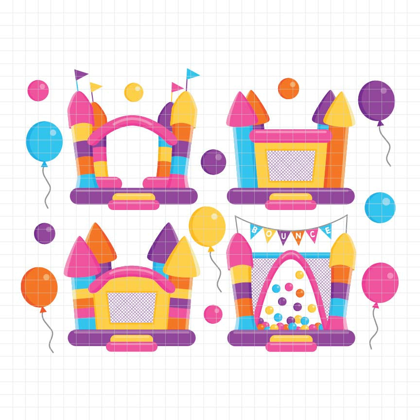 Bounce House Digital Clipart