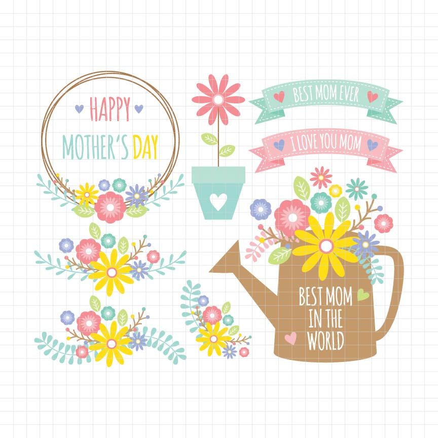 Mother's Day Digital Clipart