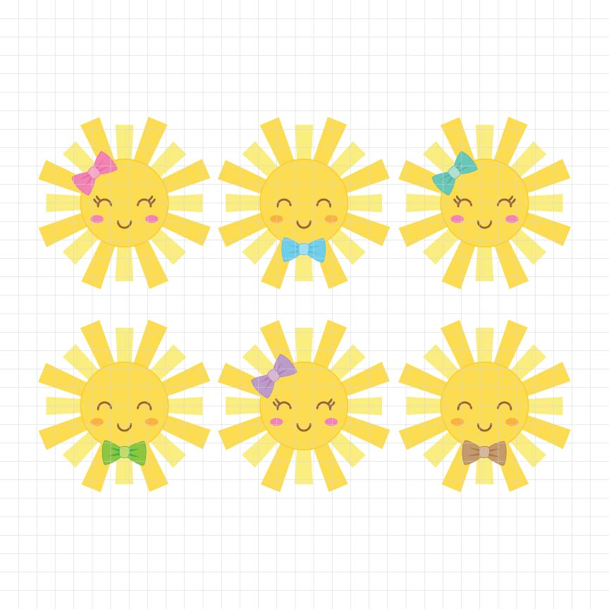 Little Sunshine Digital Clipart