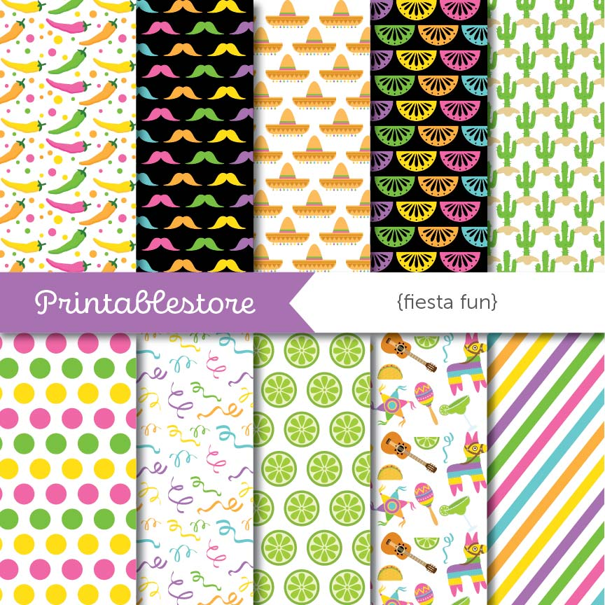 Fiesta Fun Digital Paper