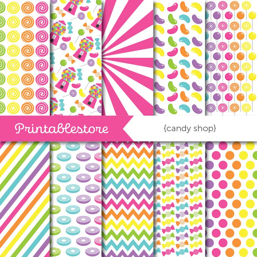 Candy Shop Digital Paper