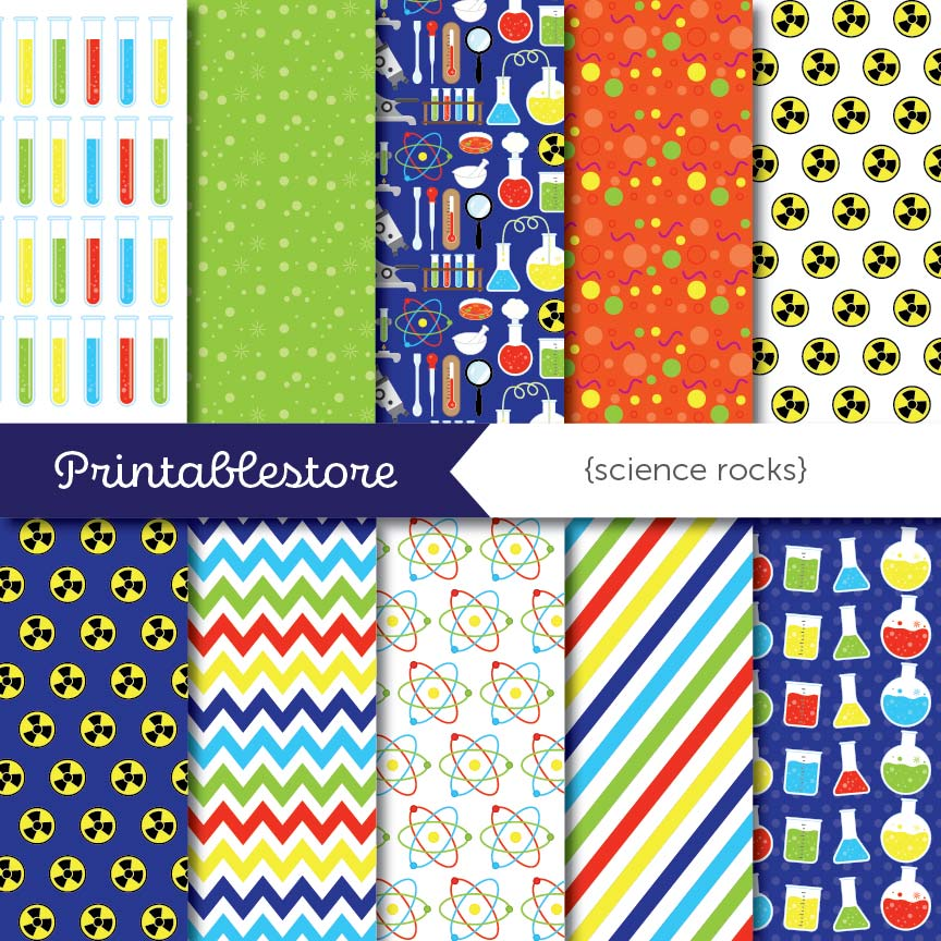 Science Rocks Digital Paper