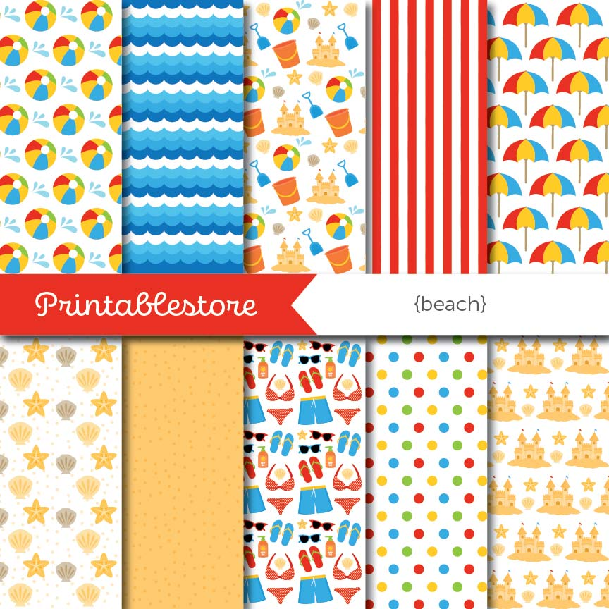 Beach Digital Paper