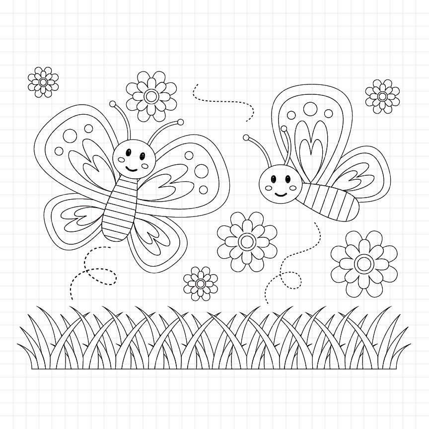 animals, insects, butterfly, flower, digital stamp, graphic, illustration, scrapbook, craft, supplies
