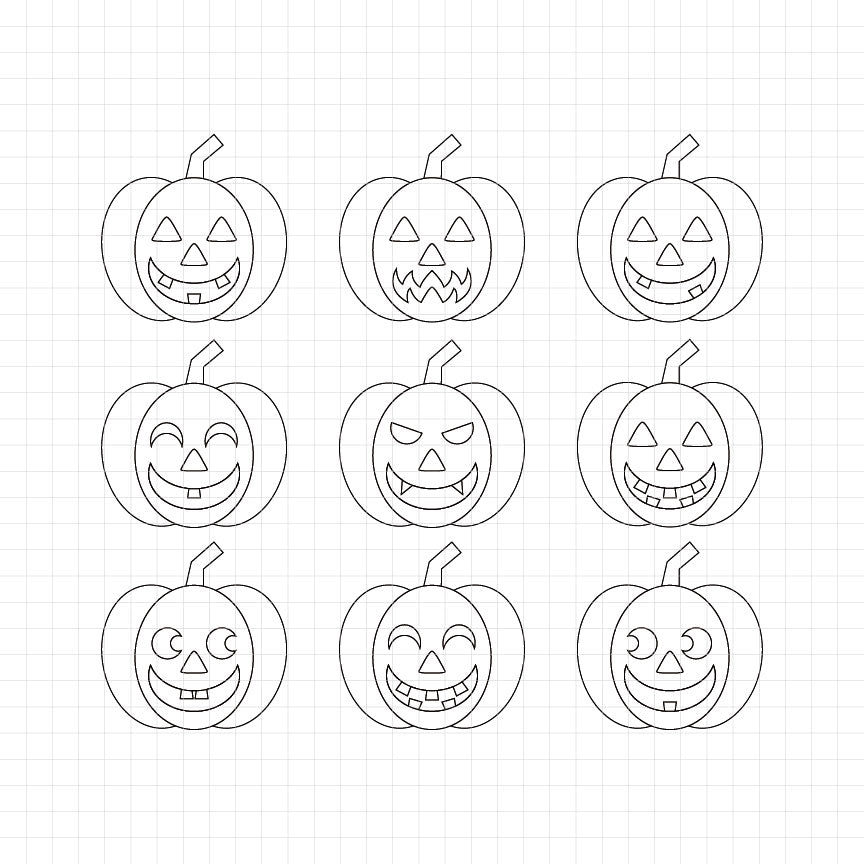 Jack O'Lantern Digital Stamp