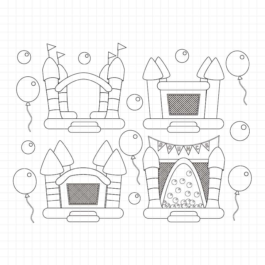 Bounce House Digital Stamp