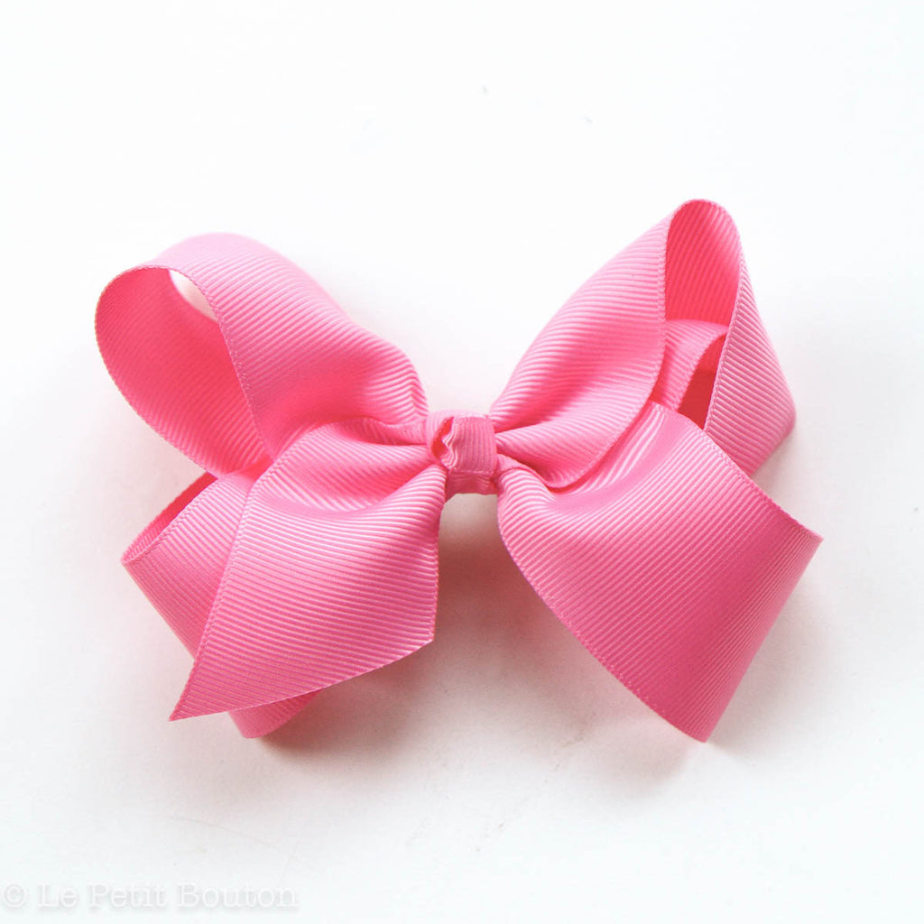"Medium Bow Hair Clip ""Leesa"" Hot Pink - Le Petit Bouton"