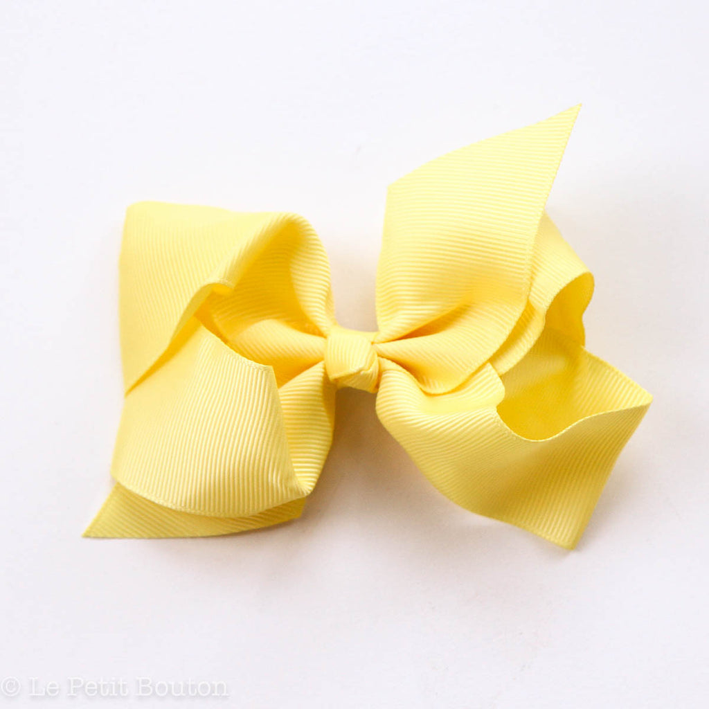 "Medium Bow Hair Clip ""Kelly"" - Le Petit Bouton"