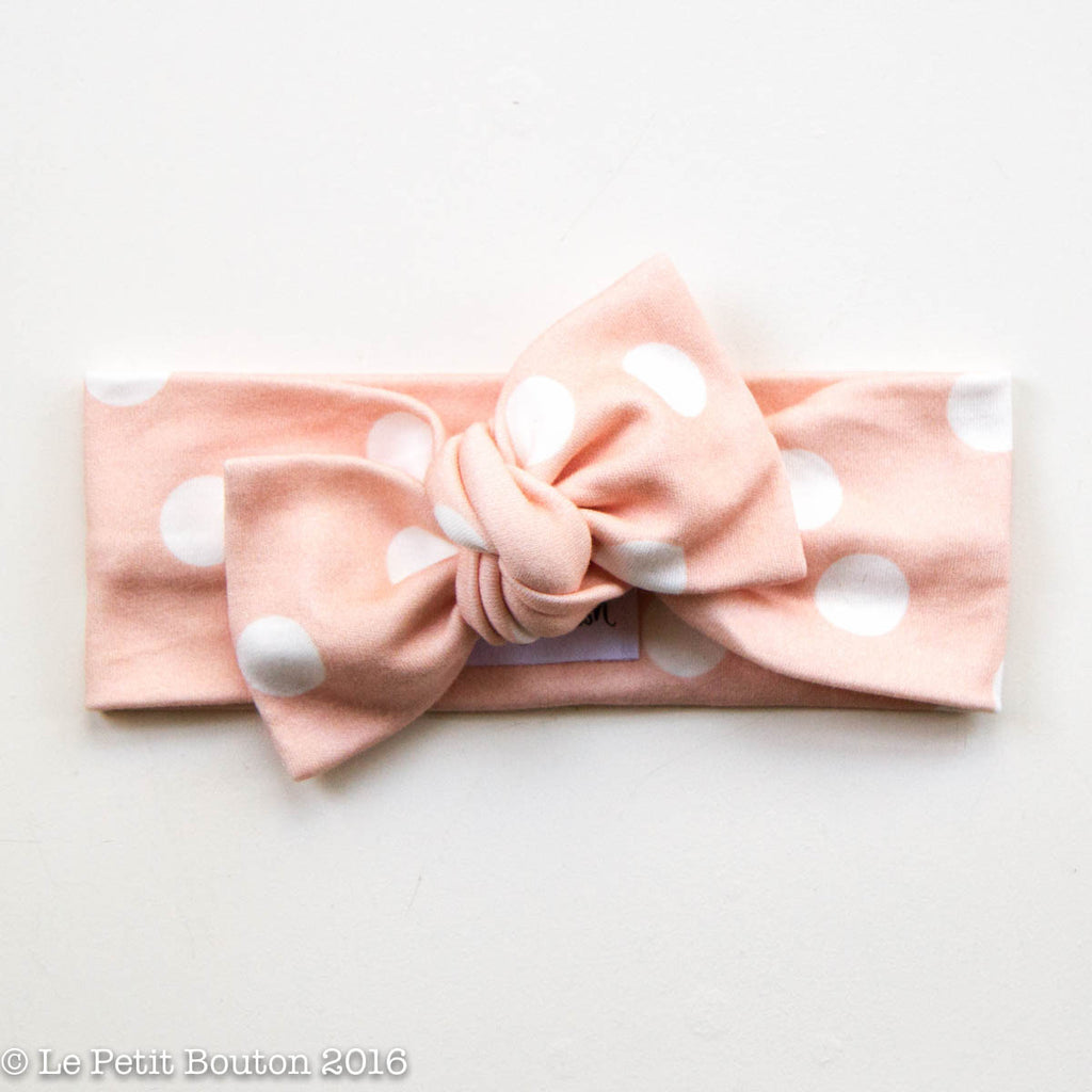 "Spring 15 Bow Knot Headband ""Shellie"" - Le Petit Bouton"