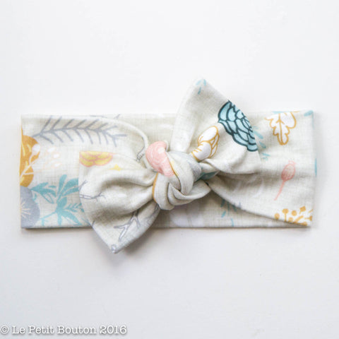 "Organic Cotton Bow Knot Headband ""Jean"""