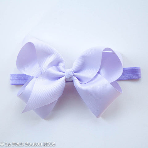"Large Ribbon Bow Headband ""Sasha"" Serene"