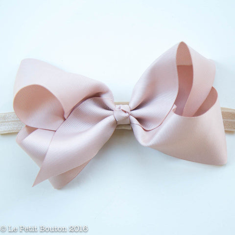 "Large Ribbon Bow Headband ""Charlotta"" Cameo"