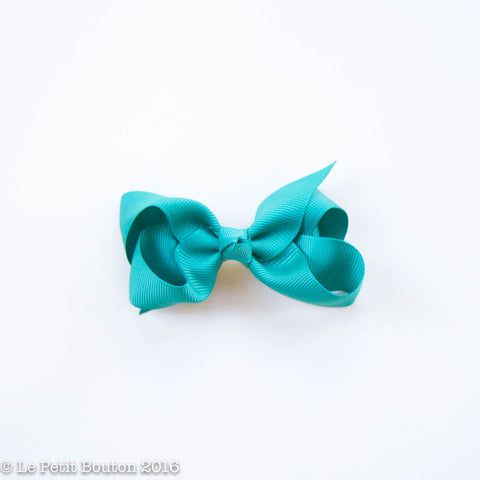 "Small Bow Hairclip ""Sasha"" Teal"