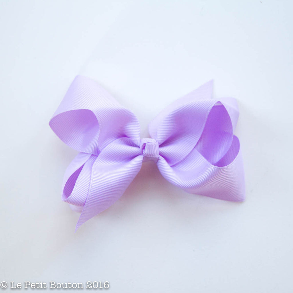 "Medium Bow Hairclip ""Bianca"" Orchid Bloom - Le Petit Bouton"