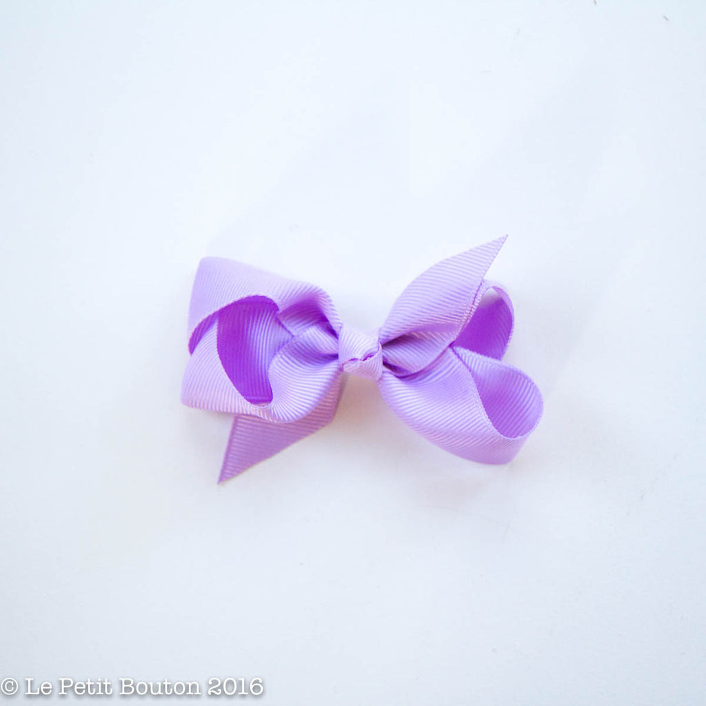"Small Bow Hairclip ""Belle"" Orchid Bloom - Le Petit Bouton"