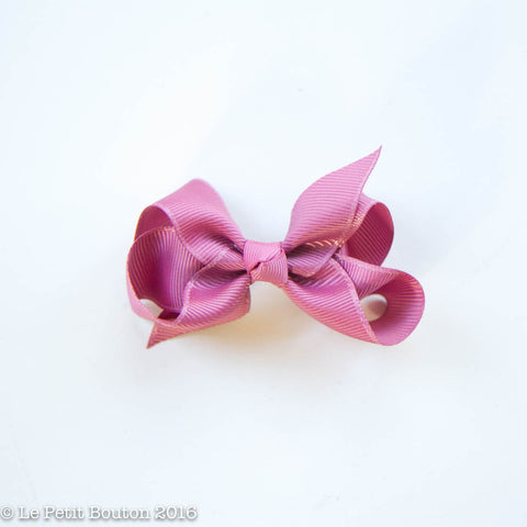 "Small Ribbon Bow Hairclip ""Natalie"" Lush Dusty Pink"