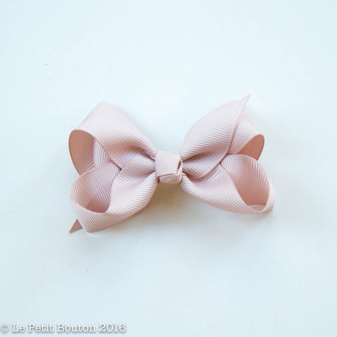"Small Ribbon Bow Hairclip ""Pansy"" Cameo"
