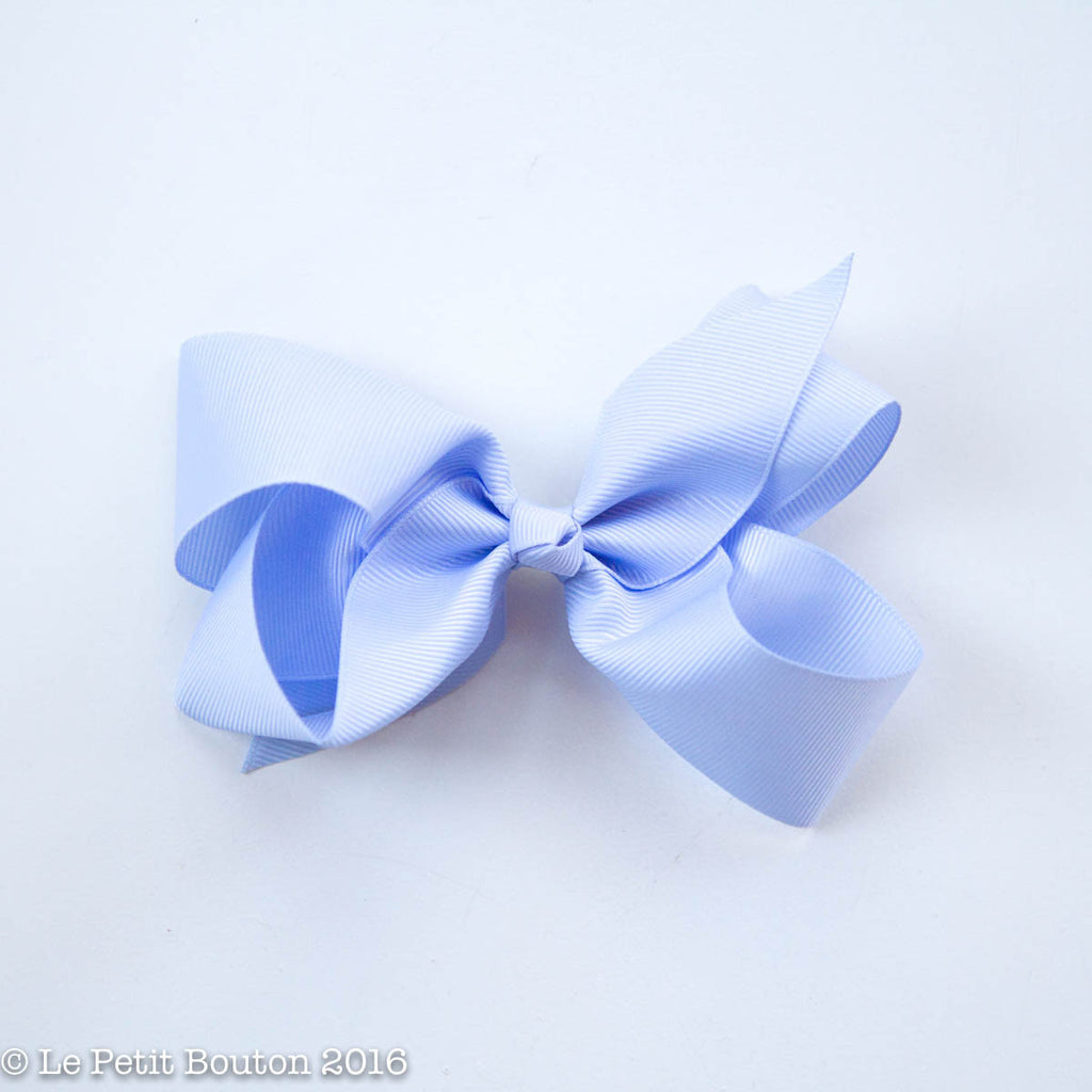 "Medium Ribbon Bow Hairclip ""Pascal"" French Blue - Le Petit Bouton"