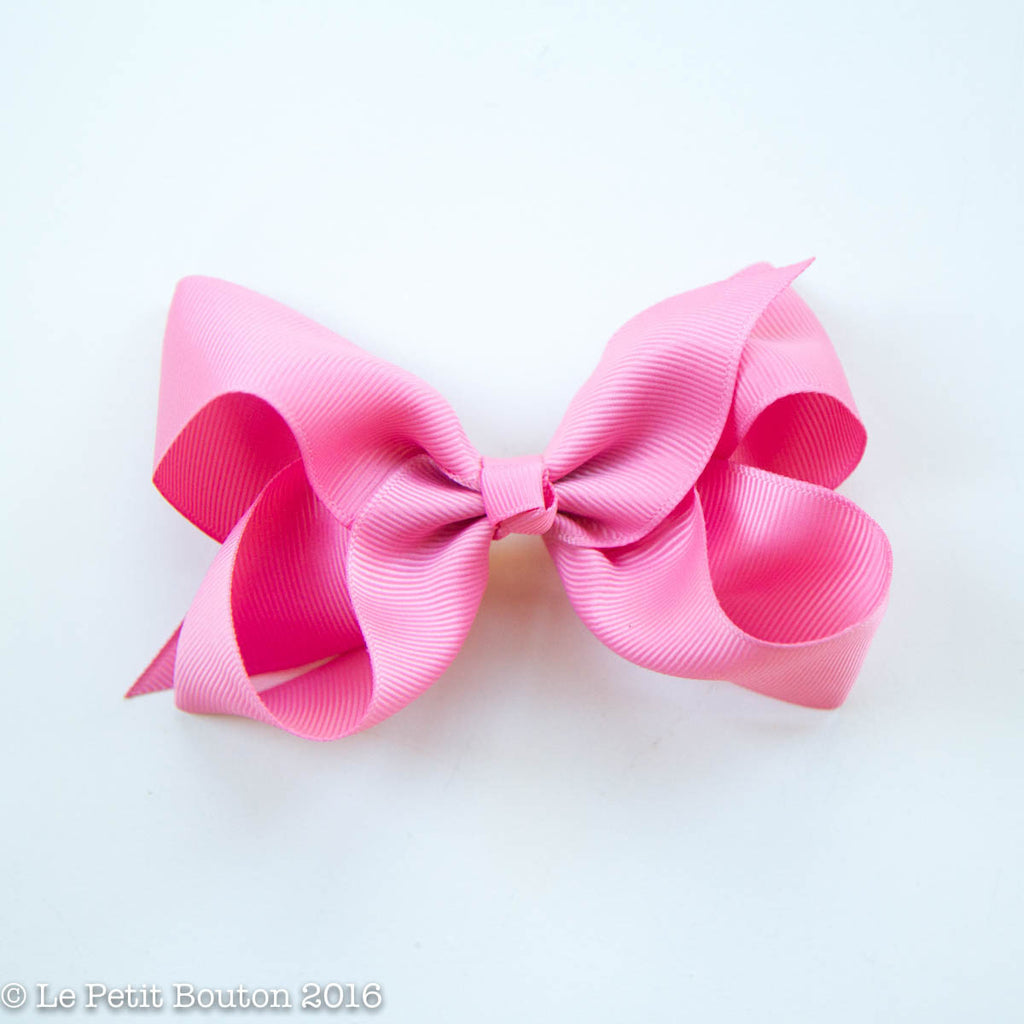 "Medium Ribbon Bow Hairclip ""Jaynie"" Vintage rose - Le Petit Bouton"