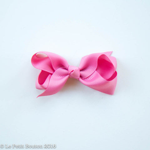 "Small Ribbon Bow Hairclip ""Elizabeth"" Vintage rose"