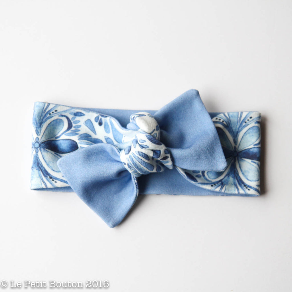 sale - organic cotton reversible bow knot