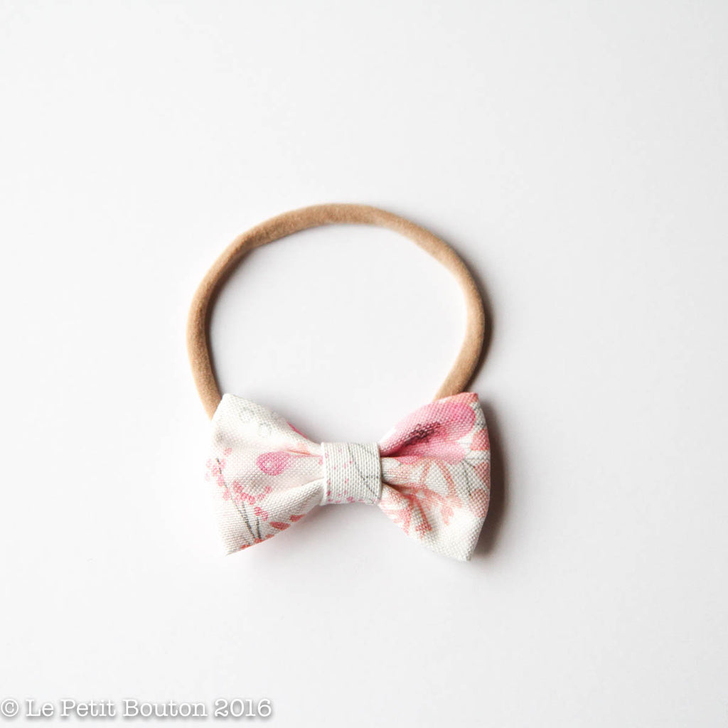 "SS17 Linen Bow Headband ""Lilly"" - Le Petit Bouton"