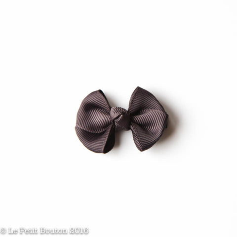 "SS17 Petit Bow Clip ""Ariana"" Charcoal"