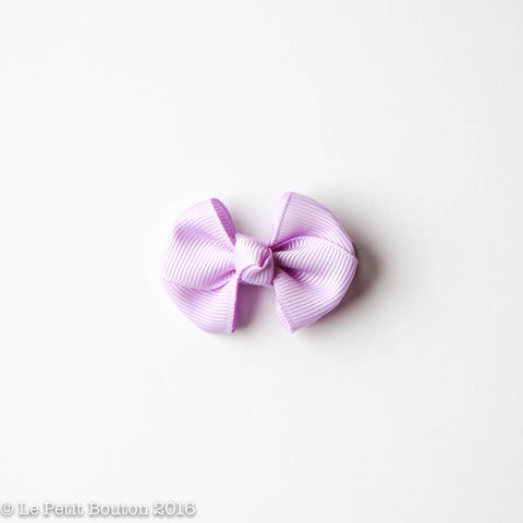 "SS17 Petit Bow Clip ""Brooke"" Orchid Bloom"