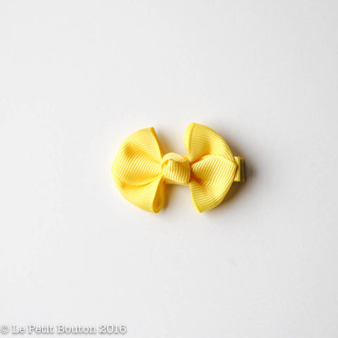 "SS17 Petit Bow Clip ""Daisie"" Sunshine Yellow"
