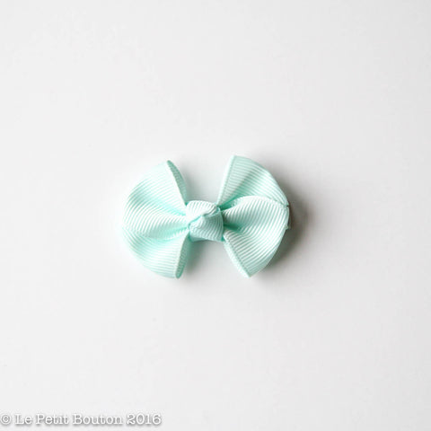 "SS17 Petit Bow Clip ""Delilah"" Ice Mint"