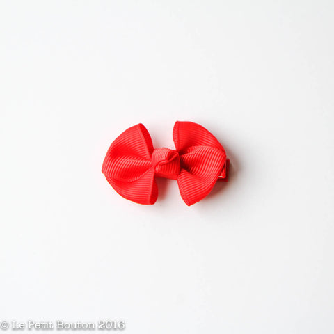 SS17 Petit Bow Clip - Christmas Red