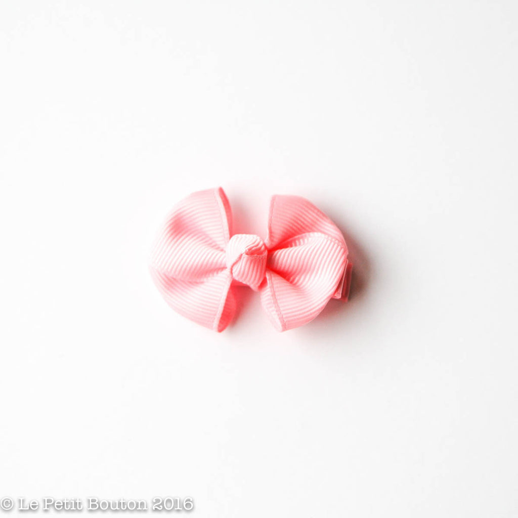 "SS17 Petit Bow Clip ""Alicia"" Pink Rose - Le Petit Bouton"