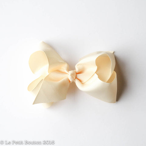 SS17 Medium Bow Clip 'Bobbi' Buttermilk