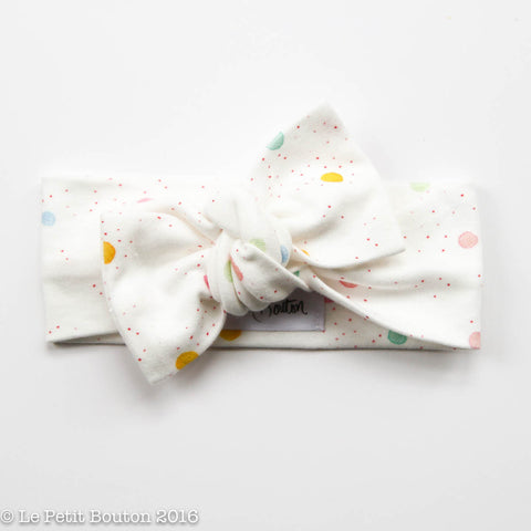 LTBL Organic Cotton Bow Knot Headband - Painting is fun - LAST ONE!