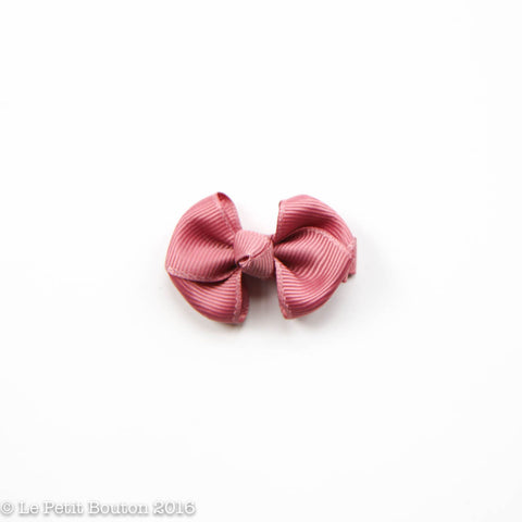 "SS17 Petit Bow Clip ""Emilee"" Lush Dusty Pink"