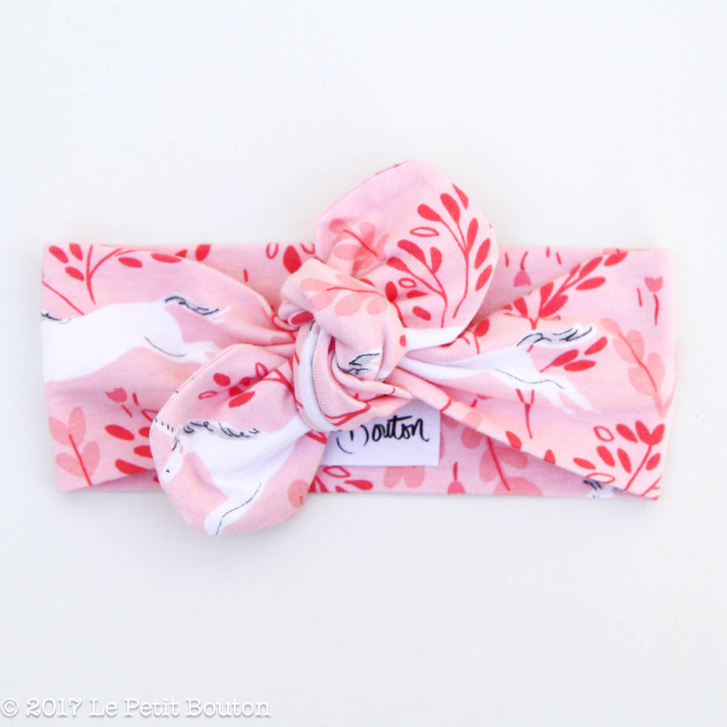 HS17 Unicorn Top Knot Headband - Le Petit Bouton