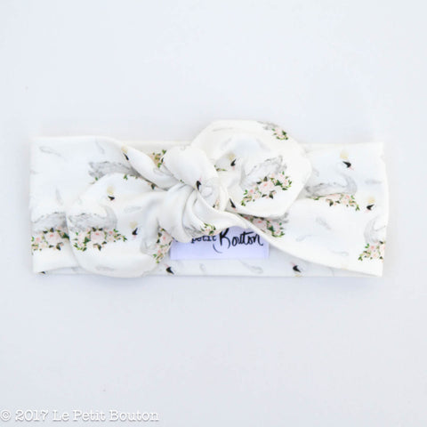 HS17 Swan Top Knot Headband