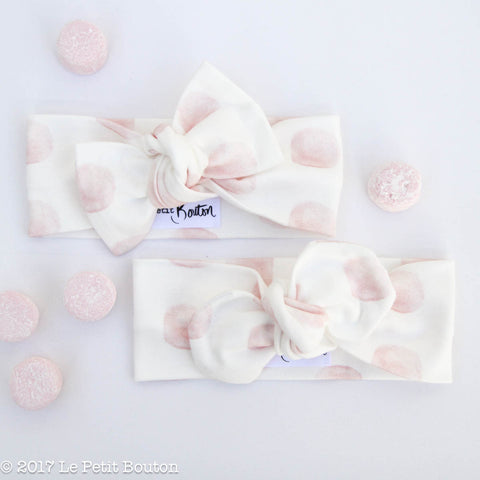 EXCLUSIVE Organic Cotton Bow Knot Headband - Pink Marshmallow