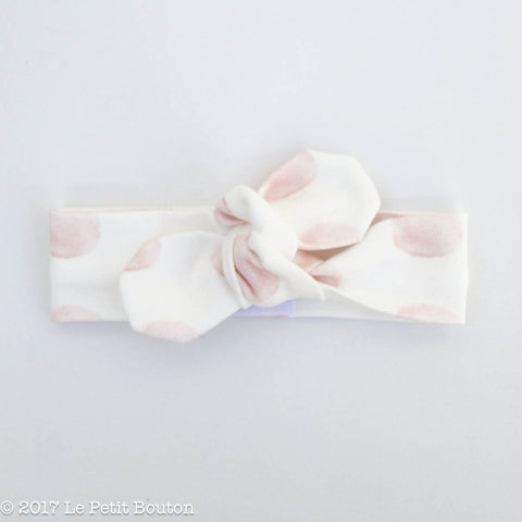 HS17 EXCLUSIVE Pink Marshmallow Thin Top Knot Headband