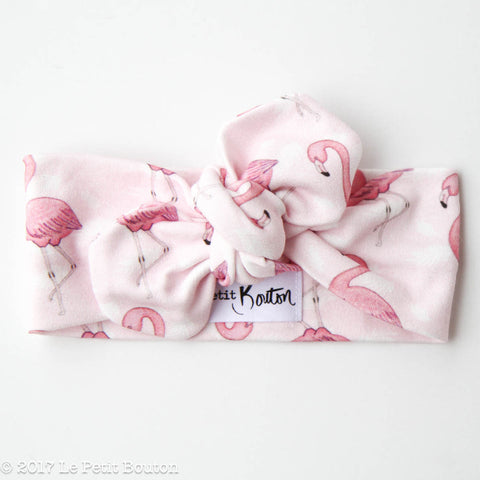 "HS17 EXCLUSIVE ""Erol"" Flamingo Top Knot Headband"
