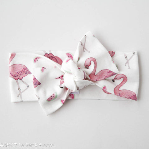"HS17 EXCLUSIVE ""Erol"" Bow Knot Flamingo & Watermelon Headband"