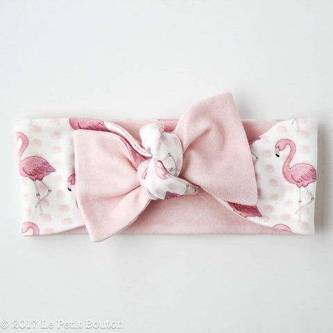 "HS17 EXCLUSIVE ""Erol"" Reversible Bow Knot Flamingo Headband"